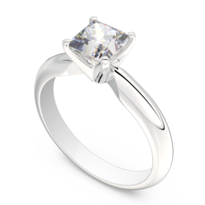 RD938 white gold 14k engagement ring princess cut