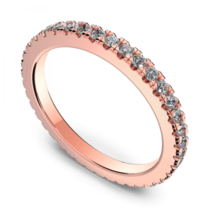 rose gold 10k wedding ring handmade in Montreal