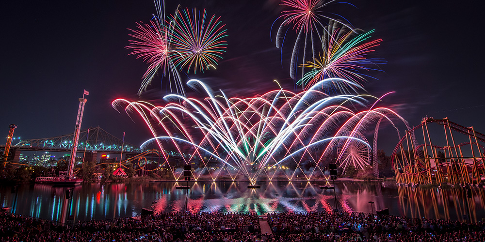 laronde fireworks 2020 montreal